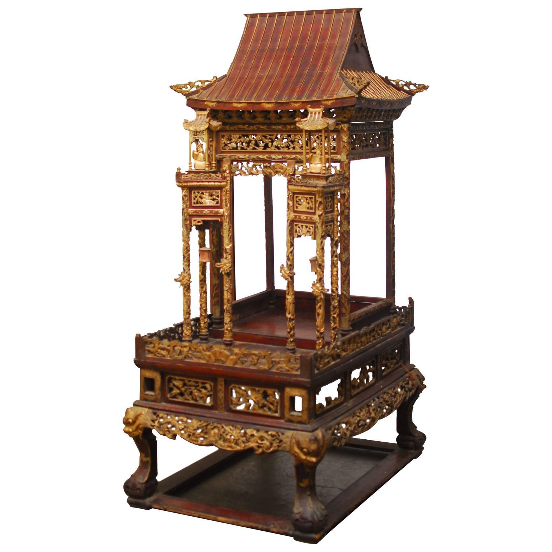 monumental 19th century chinese buddhist altar shrine at 1stdibs
