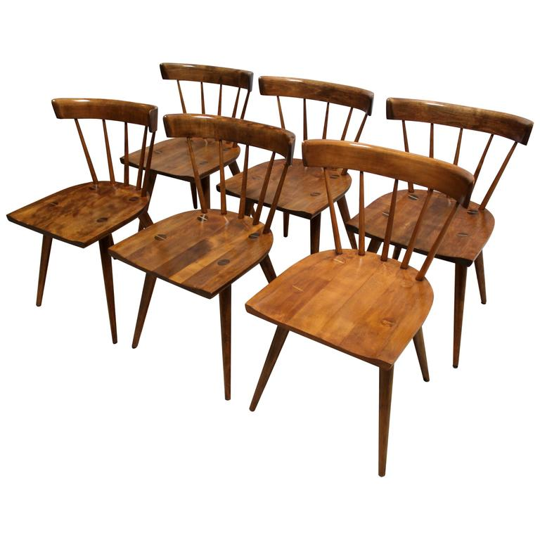 of six 1950s paul mccobb planner group maple dining chairs at 1stdibs