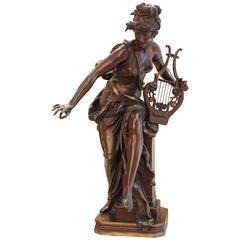 Le Melodie Bronze Sculpture by Albert Ernest Carrier-Belleuse