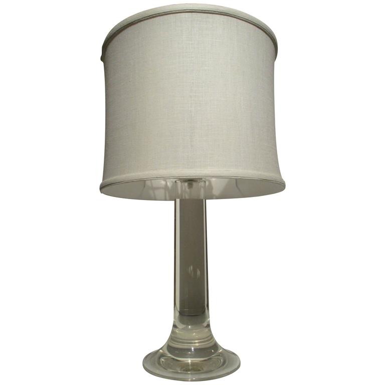 Large Midcentury Lucite Table Lamp