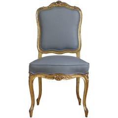 French Carved and Gilt Side Chair