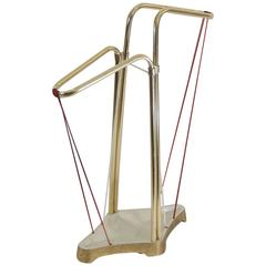 Gilt and Enameled Brass Angular Umbrella Stand