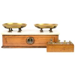 19th Century French Balance with Complete Set of Weights