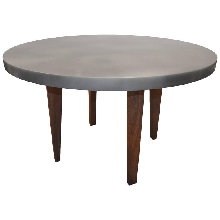 Andrianna Shamaris Black Walnut Wood Table and Resin Coated Top