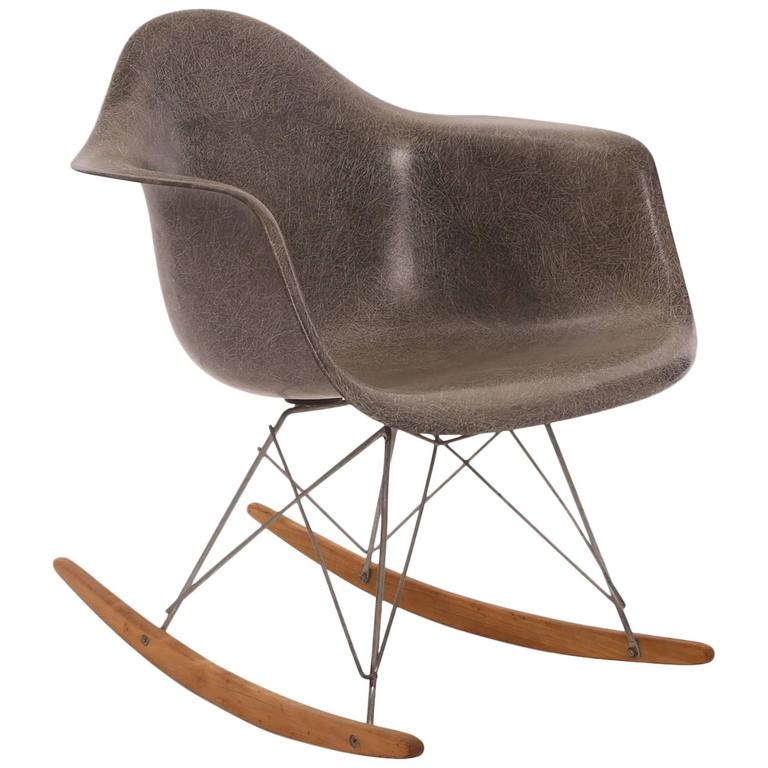 early all original eames herman miller rocking chair at