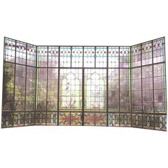 Antique Decorated Glass Window