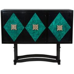 Lacquered Malachite Bar