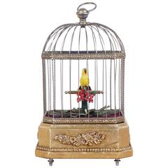 Antique French Signing Bird Cage