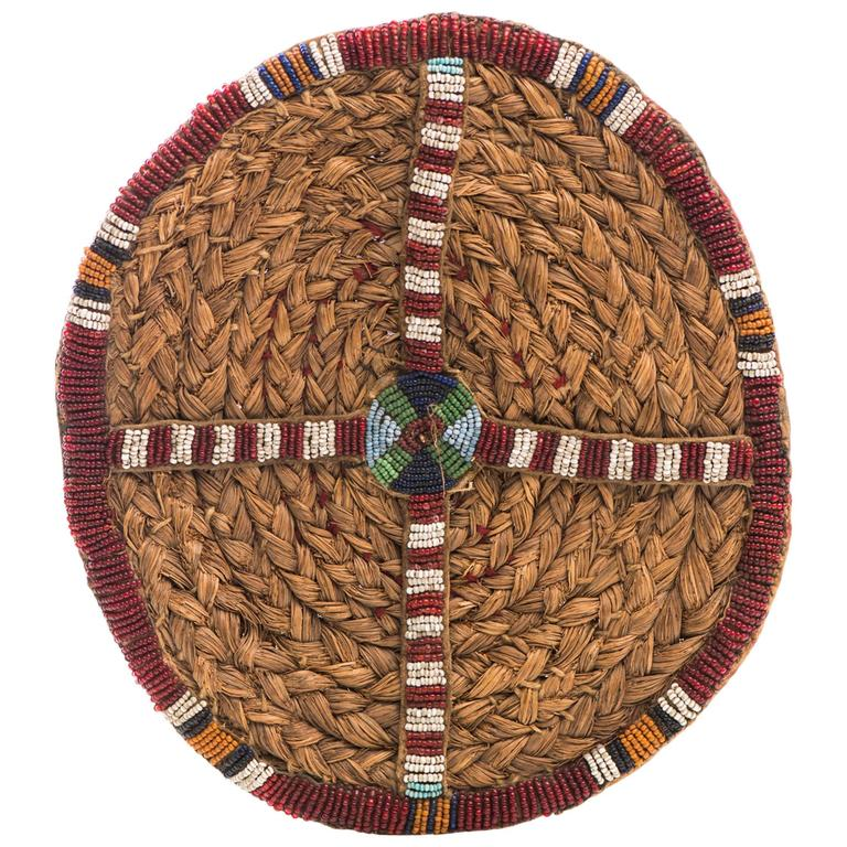 Antique Native American Beaded Disc