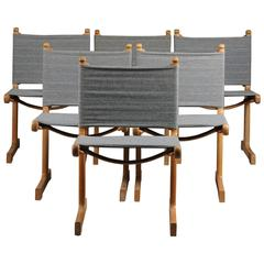 Ditte & Adrian Heath Set of Six Danish Cantilevered Dining Chairs, 1969