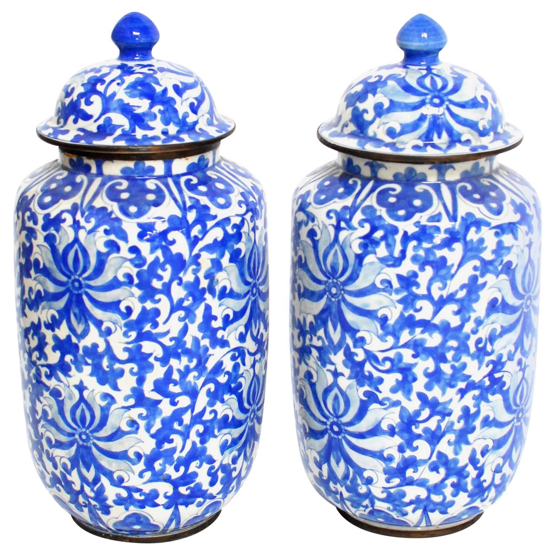 chinese blue and white ginger jars at 1stdibs. Black Bedroom Furniture Sets. Home Design Ideas