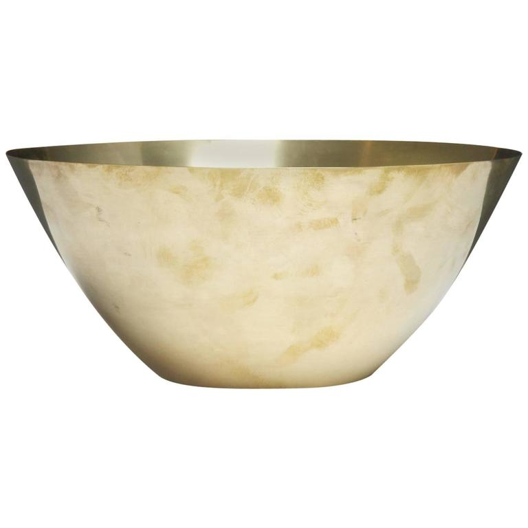 Turned Brass Bowl by Arne Jacobsen for Stelton
