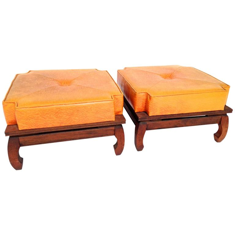 Fine Pair Of Ricardo Lynn Mid Century Modern Chinese Stools At Machost Co Dining Chair Design Ideas Machostcouk