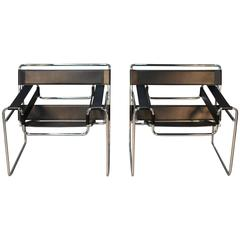 Pair of Wassily Chairs by Marcel Breuer
