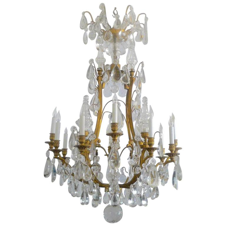 Gilt Bronze and Crystal Louis XVI Style Chandelier 1