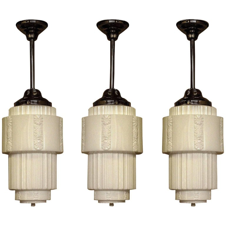Large Department Store Schoolhouse Electric Ceiling Fixture For Sale