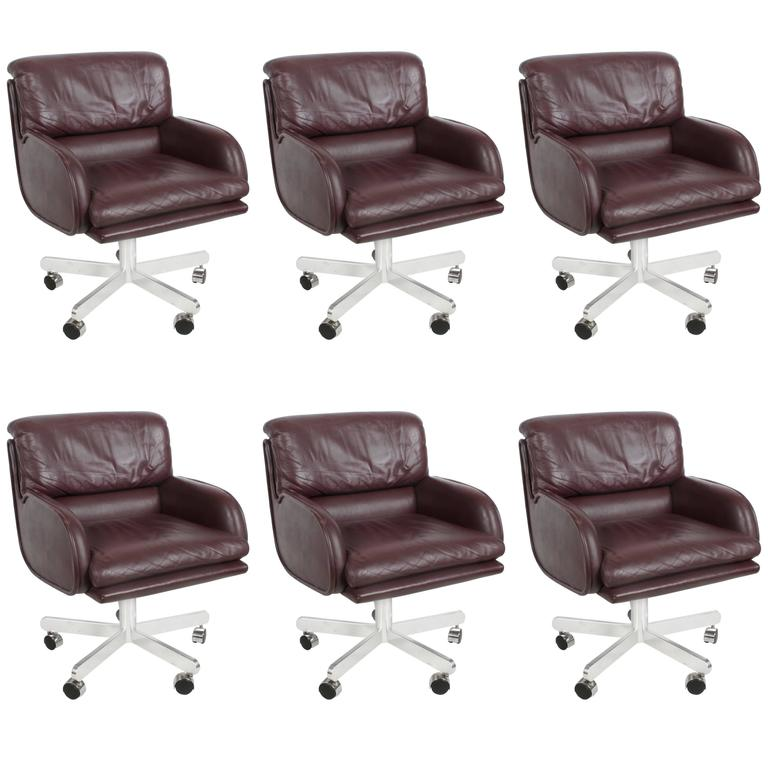 Six Roger Sprunger for Dunbar Executive Chairs Sold as Set or Singles 1