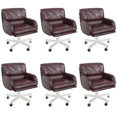 Six Roger Sprunger for Dunbar Executive Chairs Sold as Set or Singles