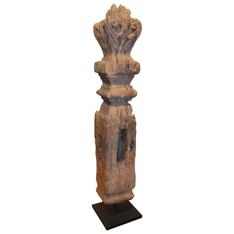 Andrianna Shamaris Iron Wood Temple Sculpture