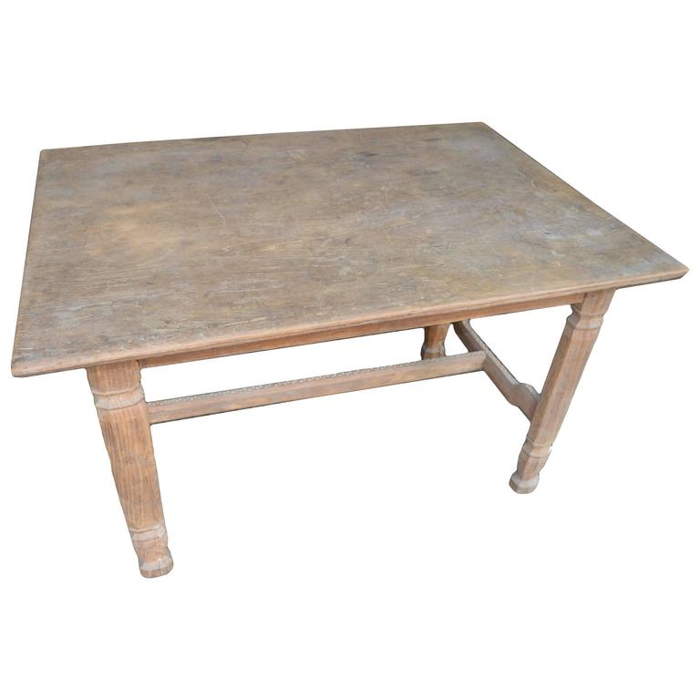 Andrianna Shamaris Shell Inlay Teak Wood Table For Sale At