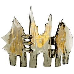 Stunning Abstract Murano Glass Sculpture in the Manner of Luciano Gaspari