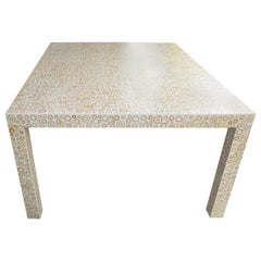 Andrianna Shamaris Sliced Bamboo Wood Table with Resin