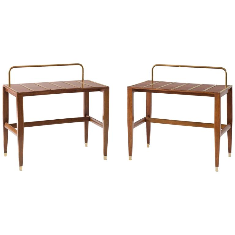 Pair of Gio Ponti Side Tables from Hotel Royal Naples, 1955