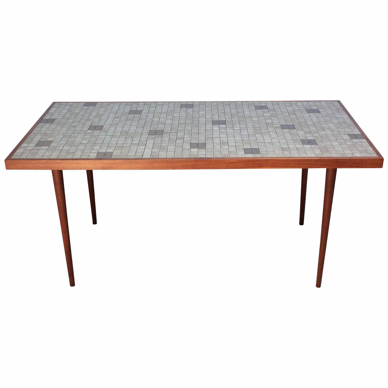 tile kitchen tables martz for marshall studios tile top dining table for 2767