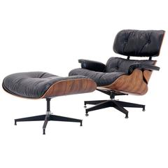 Outstanding, All Original Eames Rosewood lounge chair and ottoman.