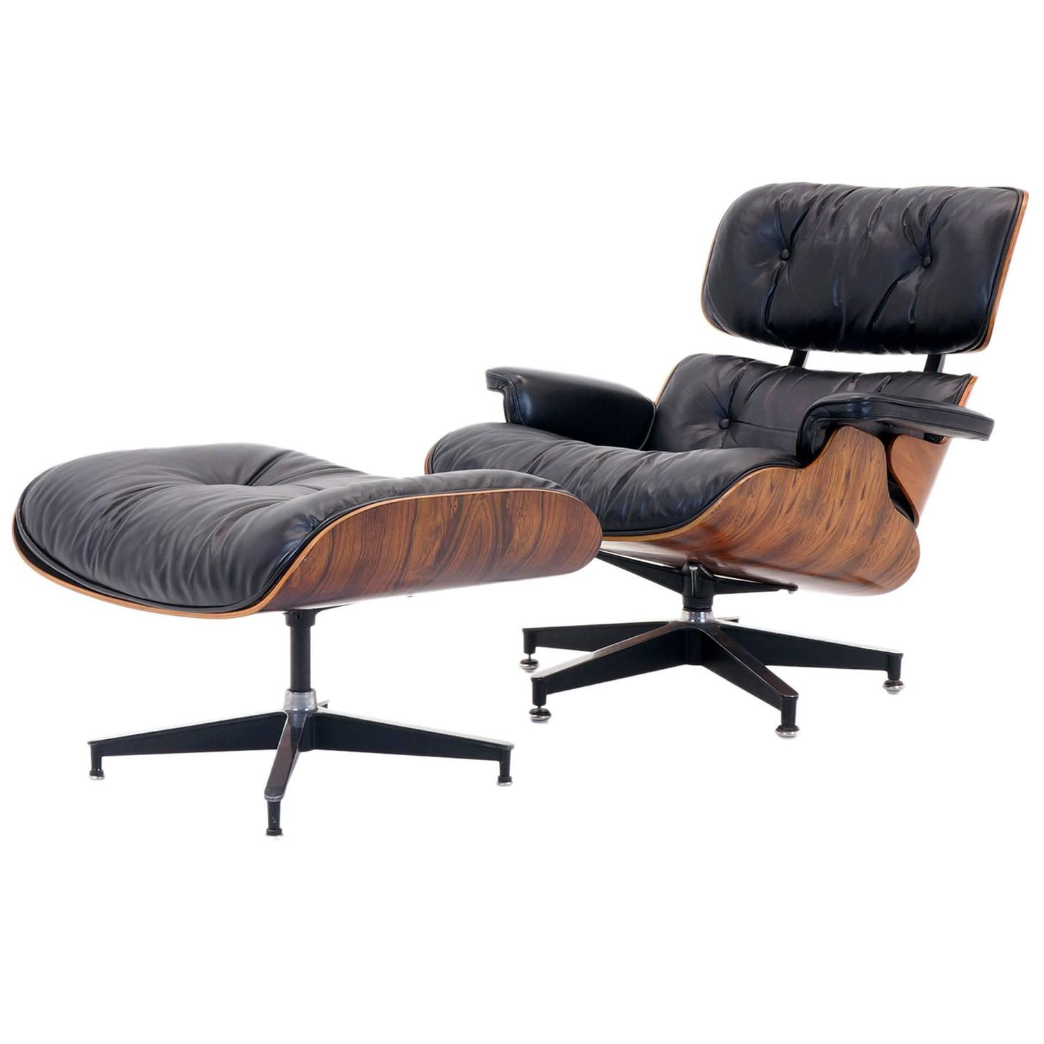 outstanding all original eames rosewood lounge chair and. Black Bedroom Furniture Sets. Home Design Ideas