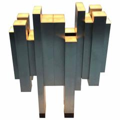 Astounding Architectural Form Lamp in the Style of Gianfranco Fini, Italy