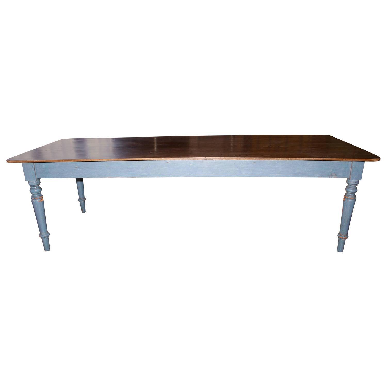 large farm house table at 1stdibs