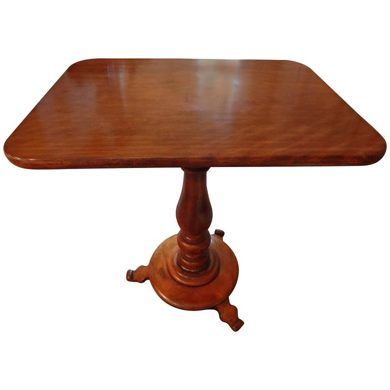 19th Century French Louis Philippe Cherrywood Pedestal Gueridon
