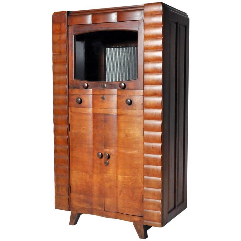 Art Deco Kitchen Cabinets: Art Deco Radio Cabinet At 1stdibs