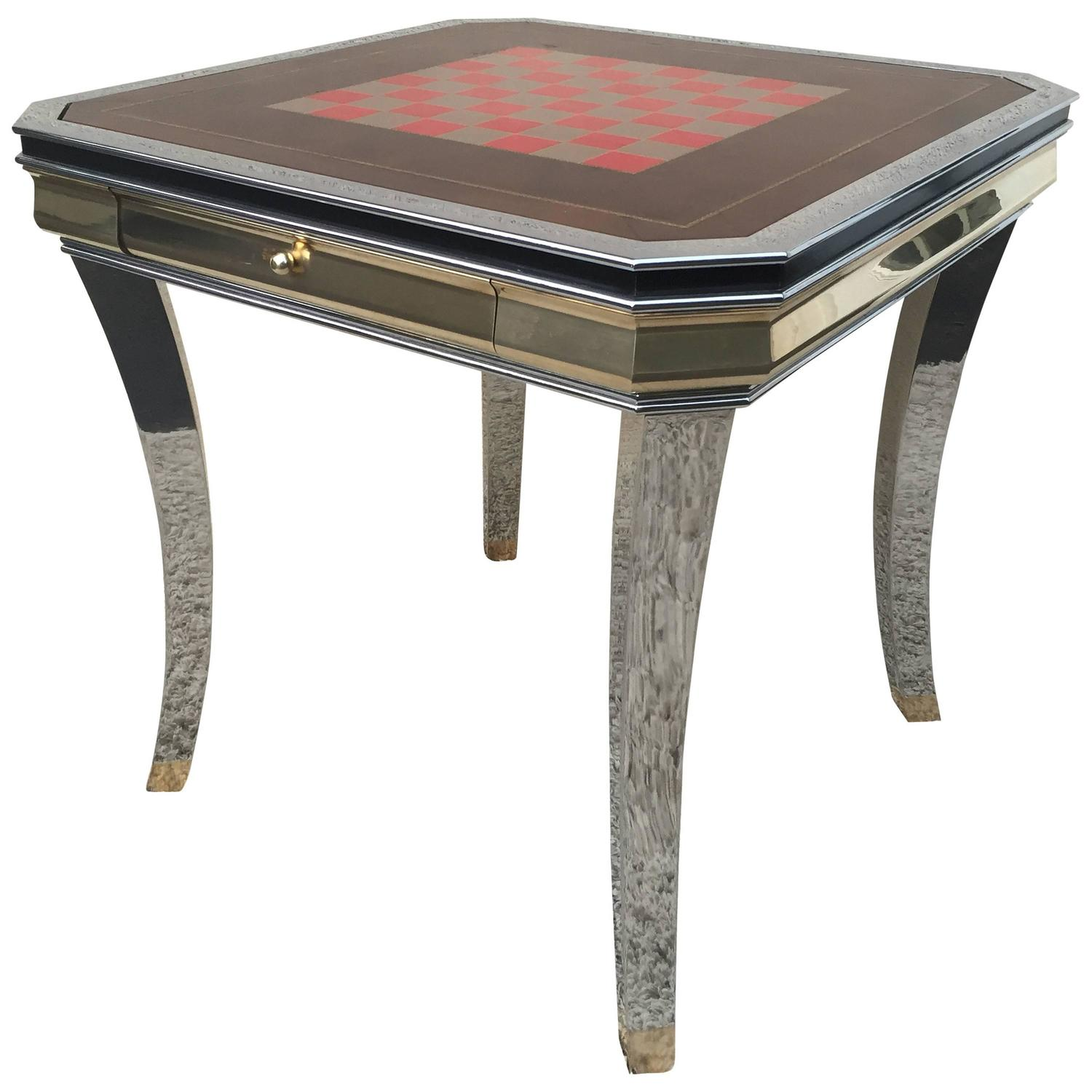 Willy rizzo style game table at 1stdibs for Table willy rizzo