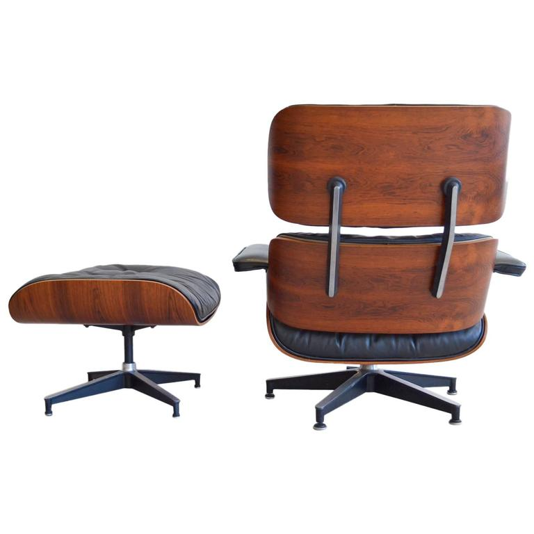 Eames for herman miller rosewood lounge chair and ottoman - Herman miller lounge chair and ottoman ...