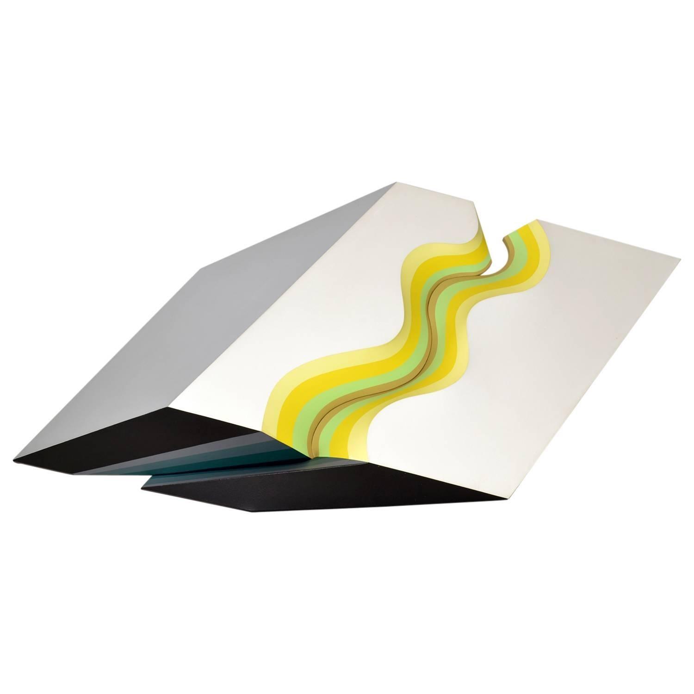 Three Dimensional Acrylic on Canvas Construction by Shozo Nagano