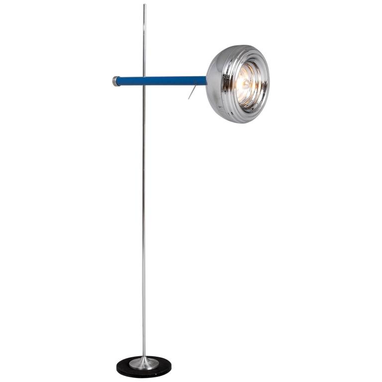 Adjustable Floor Lamp in Chrome, Italy, 1980s