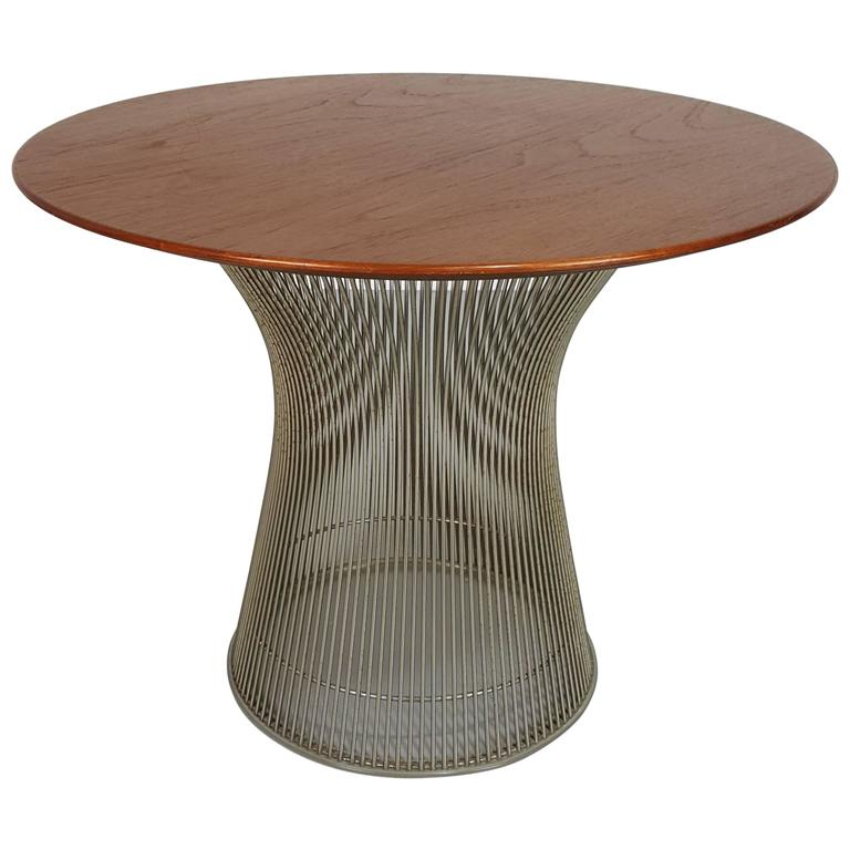 Sculptural side table by warren platner table for knoll for Table warren platner