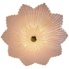 Large Murano Star Shaped Ceiling Fixture
