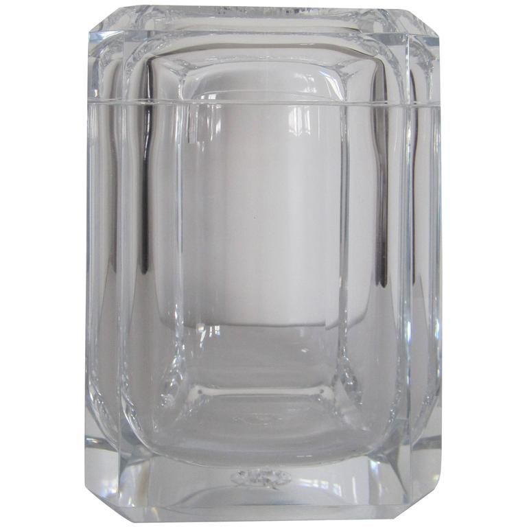 Modern Lucite Ice Bucket Or Box For Sale Idea