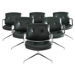 Fabricius and Kastholm Set of Six FK84 Office Chairs