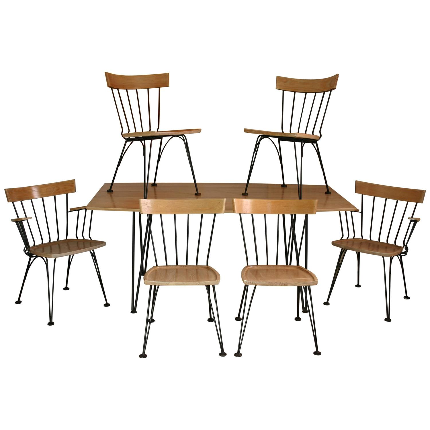 Mid Century Modern MCM Table And Six Chair Set By Lyman Woodard At 1stdibs
