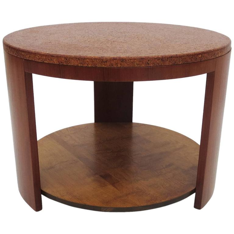 Cork Topped Occasional Table in the Manner of Paul Frankl