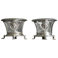 Pair of French Neoclassical Silver Salts
