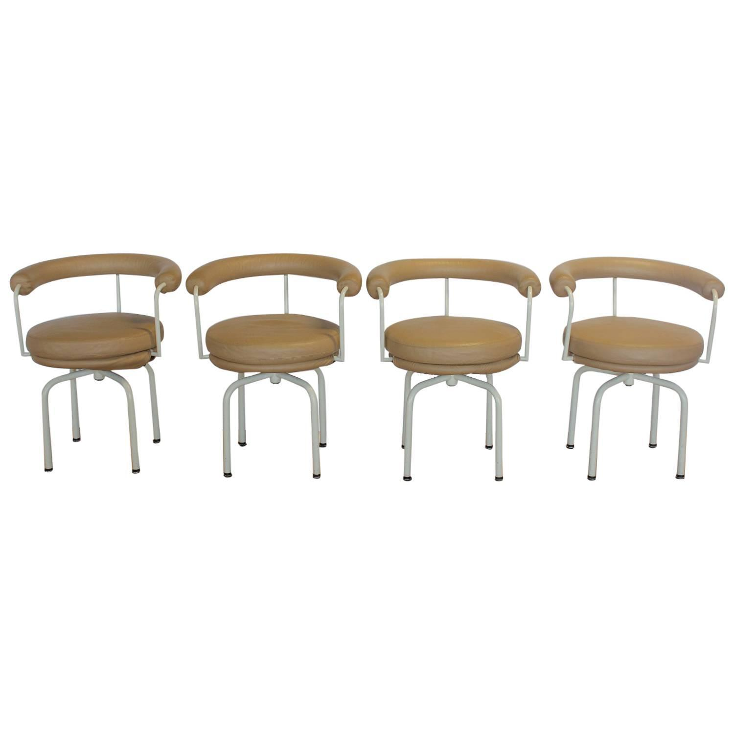 Stylish LC7 Chairs by Pierre Jeanneret Perriand and Le Corbusier