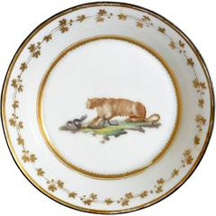 Neoclassical Gilt Decorated Plate With Puma