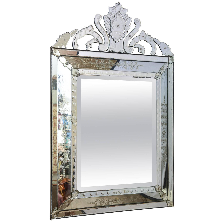Venetian Glass Mirror Circa 1910 At 1stdibs