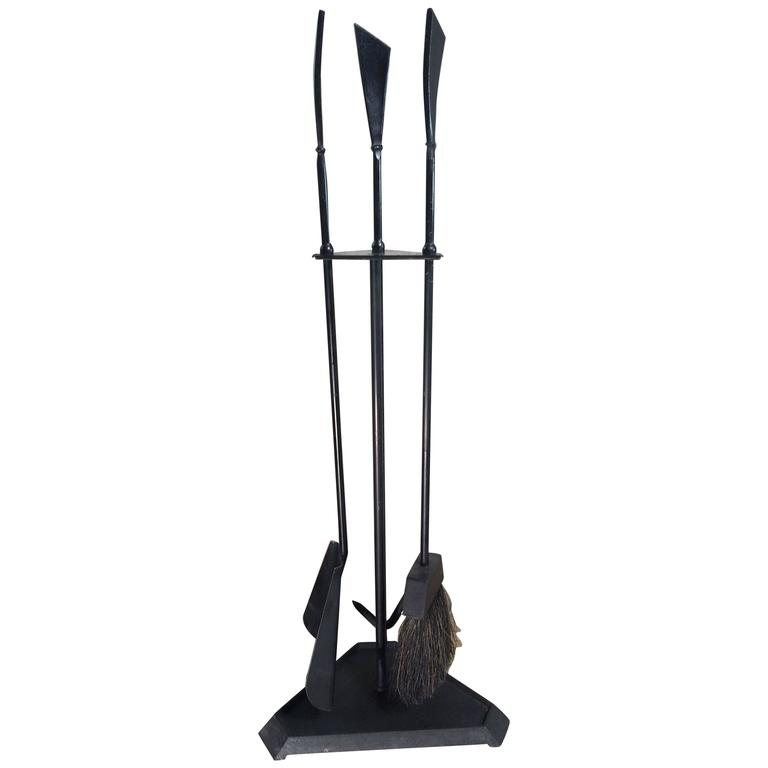 Mid Century Wrought Iron Fireplace Tools At 1stdibs