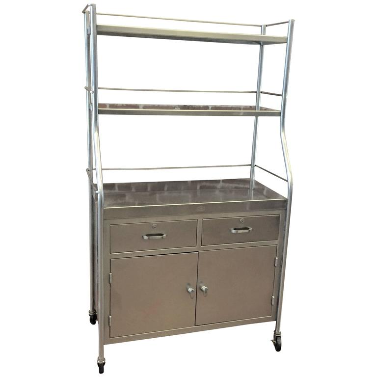 Stainless Steel Utility Cabinet at 1stdibs